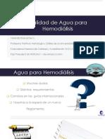Calidad de Agua Para Hemodialisis Jornadas Tens Nov 2016