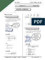 II BIM - 3er. Año - ALG - Guía 4 - División Algegraica