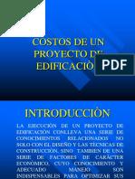 COSTOS DE UN PROYECTO DE EDIFICACIÒN.ppt