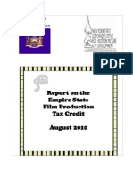 Report on the Empire State Film Production Credit August 2010