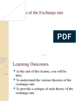 BBF 212 Notes on Theories of the Exchange Rate