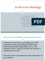 Customer Service Strategy EDITED