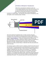Radiated Fields of Ultrasonic Transducers UT NDT