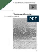 C19446-OCR - Política de Capital de Trabajo