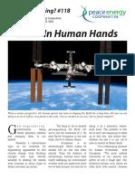 Watt's#118 Earth in Human Hands