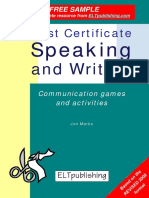 First Certificate Speaking and Writing