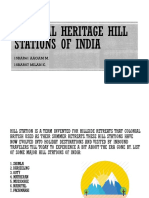 Colonial Heritage Hill Stations of India