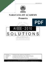 Narayana Aieee 2010 Solutions