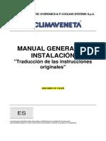 Bombas de Calor CLIMAVENETA - Manual de Instalación General