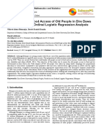 Determinants of Food Access of Old People in Dire Dawa City