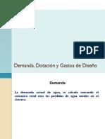 Demanda, Dotación y Gastos de Diseño