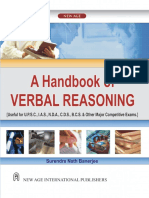 Bandyopadhyay, Surendranath-Handbook of Verbal Reasoning _ [Useful for U.P.S.C., I.a.S., N.D.a., C.D.S., B.C.S. & Other Major Competitive Exams]-New Age International (2008)