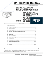 Sharp Mx-c300w Service Manual
