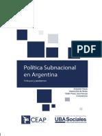 Mauro Et Al_Política Subnacional en Argentina