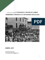 ASPECTOS DE LA ETNOGRAFÍA E HISTORIA DE LUMBIER (I) / IRUNBERRIKO ETNOGRAFIA ETA HISTORIAREN ZERTZELADAK (I)