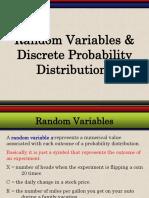 Random Variables & Discrete Probability Distributions