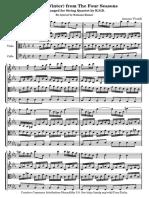 Winter Quartet Score