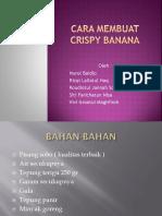 Cara Membuat Crispy Banana