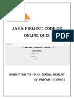 Java Ptoject