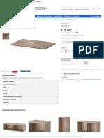 Besta Ράφι 56x36, Όψη Καρυδιάς Σε Γκρι Χρώμα, Εσωτερικά Εξαρτήματα Ikea Ελλάδα