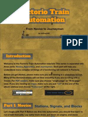 Factorio Train Automation (Parts 1-3)   Traffic   Train Station