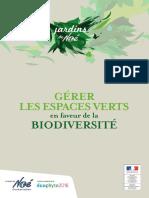 Guide Gerer Les Espaces Verts en Faveur de La Biodiversite