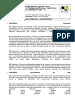 EXERCÍCIOS INTRODUTÓRIOS Anatomia Médica I