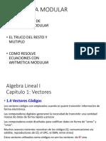 4. Aritmetica Modular - Vectores Codigo