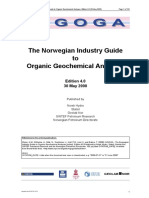 Norwegan Industry Guide to Organic Geochemical Analysis