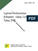 Laporan Perekonomian Kabupaten Padang Lawas Utara 2015(1)