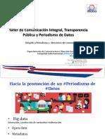 Presentacion de Comunicación Integral, Transparencia Pública y Periodismo Datos - DIGEIG