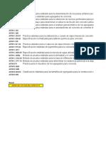 Listado de principales normas ASTM