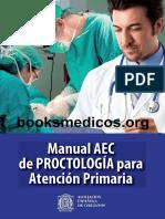 Cirugía.manual AEC de Proctologia en Atencion Primaria