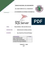 Disponibilidad SQL Server