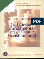 La Libertad Fundamental en El Estado Constitucional - Peter Häberle