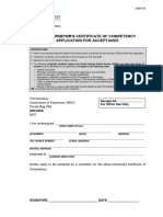 Dmr 69 Mscc Application Form for Acceptance