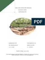 Proyecto Planta Procesadora de Madera - Jul 2016