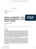 Space as Metaphor_ the Use of Spatial Metaphors in Music and Music Writing
