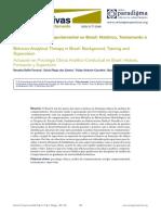 Clínica Analítico-Comportamental No Brasil - Histórico, Treinamento e Supervisão