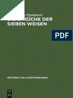(Beiträge zur Altertumskunde) Maria Tziatzi-Papagianni-Die Sprüche der sieben Weisen Zwei byzantinische Sammlungen_ Einleitung%2c Text%2c Testimonien und Kommentar-Vieweg+Teubner Verlag (1994)