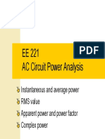AC Circuit Power Analysis