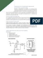 Parámetros y Características de Un Amplificador Operacional