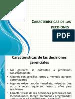 Características de Las Decisiones
