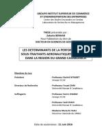 Thèse Les Determinants de La Performance Des Sous Traitants Aeronautiques Marocains Dans La Region Du Grand Casablanca Zakaria Benhar 1