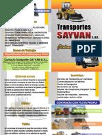 Brochure Transportes Sayvan
