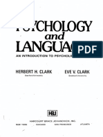 Psychology and Language Herbert H. Clark Eve v. Clark
