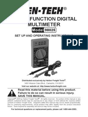 Digital Multimeter 98025 | Bipolar Junction Transistor | Voltage