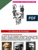 Os Classicos Da Sociologia Marx