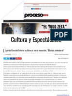 Cuenta Gonzalo Celorio Su Libro de Varia Invencion El Viaje Sedentario Proceso
