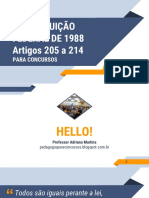 Artigos 205 a 214 PARA CONCURSOS - Aula 02 - Final